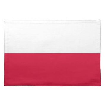 Polish Flag on MoJo Placemat
