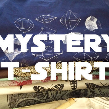 Mystery T-Shirt - One shirt at random - Screen Printed Tshirt - Graphic Tee - Vintage Art