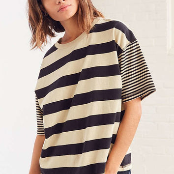 BDG Boston Oversized Striped Ringer Tee | Urban Outfitters