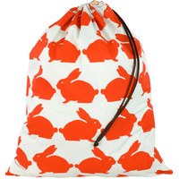 Anorak Kissing Rabbits Laundry Bag