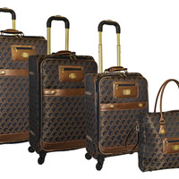 Adrienne Vittadini Signature 4 Piece Luggage Set
