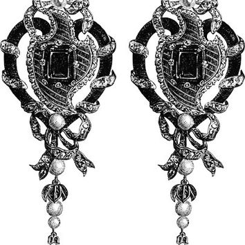 victorian earrings jewelry clip art PNG Digital Image graphics Download for cards, tags, jewelry scrapbooking arts and crafts DIY projects