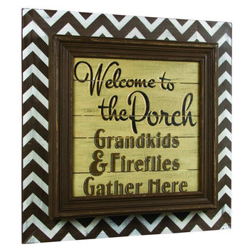 GATHER HERE PORCH SIGN