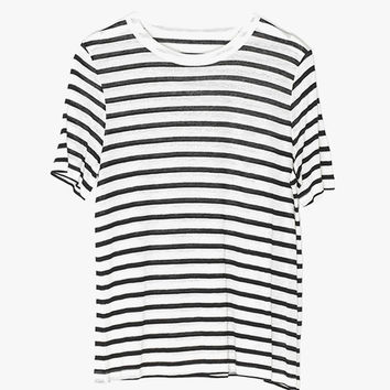 Soft Striped Linen T-Shirt