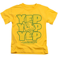 Land Before Time Yep Yep Yep Yellow Kids T-Shirt