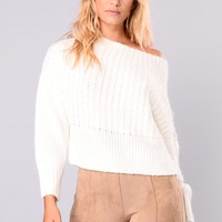 Aleta Off Shoulder Sweater - Ivory