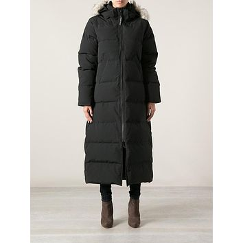 Canada Goose Black Mystique Parka Winter Down Coat Coyote Fur Hood Women 2 Xs Xxs