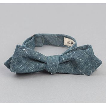 Extra Neppy Indigo Chambray Bow Tie