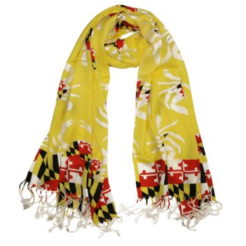 Maryland Crab Pattern (Yellow) / Scarf