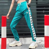 ADIDAS Woman Men Fashion Drawstring Sport Pants Trousers-2