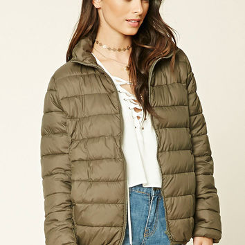 Zip-Up Puffy Jacket