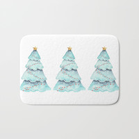 christmas tree Bath Mat by Sylvia Cook Photography