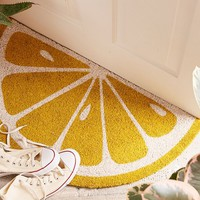 Sunnylife Lemon Doormat | Urban Outfitters