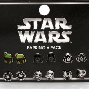 Star Wars Loungefly Darth Emperor Dark Side Earrings Pack