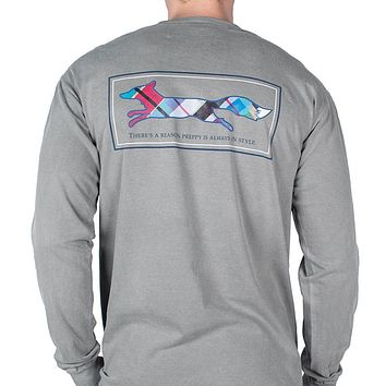 Longshanks Long Sleeve Tee Shirt in Grey by Country Club Prep