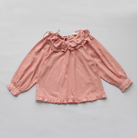 Vierra Rose Marion Ruffle Shirt in Dusty Rose -T1028