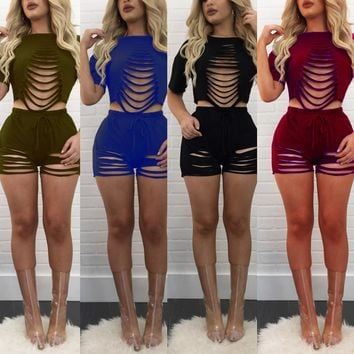 Two Piece Set Women Sexy Outfit