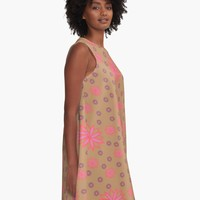 'Pink Hippy' A-Line Dress by Carmen Ray Anderson