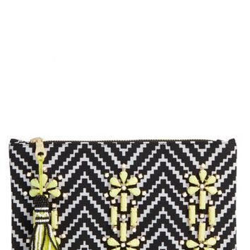 Shiraleah 'Asta' Embellished Zip Pouch | Nordstrom