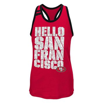 San Francisco 49ers Princess-Cut Tank - Girls 7-16 (Red)