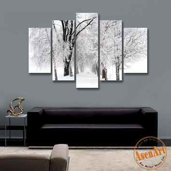 Shop winter tree paintings on wanelo for Best brand of paint for kitchen cabinets with astronomy canvas wall art