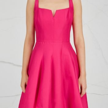 Halston Heritage Fuchsia cotton and silk blend dress