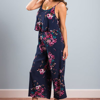 Feel The Floral Jumpsuit, Navy