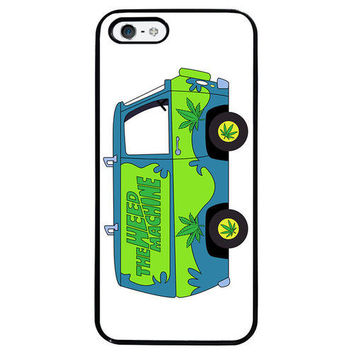 Weed Machine Hippy Van Cartoon for Black Plastic iPhone 5 5s Phone Case