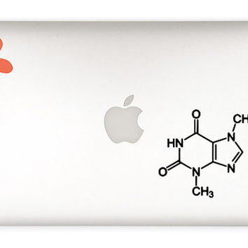 Chocolate Molecule Decal Sticker - Chocolate molecule - Chemical Molecule - DIY - laptop decal sticker, notebook decal sticker, car decal