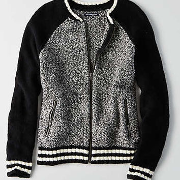 AEO Ahh-mazingly Soft Bomber Jacket , Black