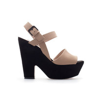 COMBINED WEDGE - Wedges - Shoes - Woman - ZARA United Kingdom