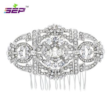 Vintage Style Hair Combs Crystals Rhinestone Hairpins Bridal Wedding Hair Jewelry Accessories Women Pageant Headpiece 5771