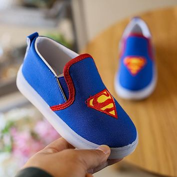 LED light Batman infant Shoes Cool Canvas Newborn Baby Boys Kids First Walkers Loafers Crib Bebe Children hard Soled Baby Shoes