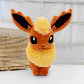 New Large Flareon 13 Kawaii Eevee Anime Figure Plush Toy Soft Dolls Gifts For Children Free Shipping
