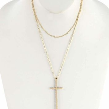 Gold Layered Cross Necklace