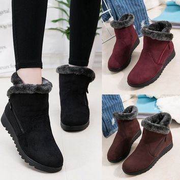 New Women Winter Boots Women's Boots Mother Shoes Waterproof Ankle Boots Women Rain Warm Fur Footwear