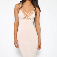 Highness Midi Dress - Nude