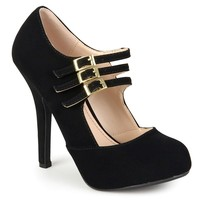 Women's Triple Strap Mary Jane Heels