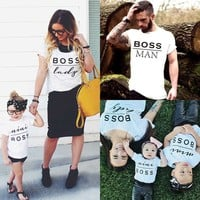 Family Matching Clothes Dad Mom Kids T-Shirts
