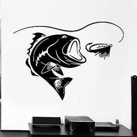 Wall Decal Fishing Fish Lake Relax Relaxation Cool Decor For You Unique Gift (z2759)