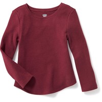 Long-Sleeve Waffle-Knit Tee for Toddler | Old Navy