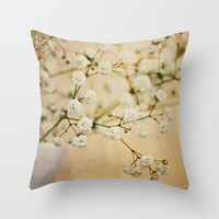 Baby's Breath Throw Pillow by Around the Island (Robin Epstein)