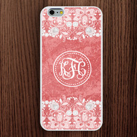 new iphone 6 case,pink texture iphone 6 plus case,lace flower iphone 5s case,lace floral iphone 5c case,monogram iphone 5 case,girl's gift iphone 4s case,graceful iphone 4 case