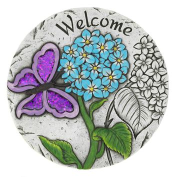 Garden Stepping Stone Welcome Butterfly