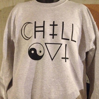 Chill Out crew neck sweatshirt