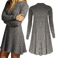 Knitted Long Sleeve Dress