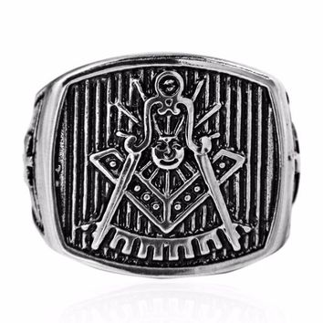Past Master Vintage Masonic Ring