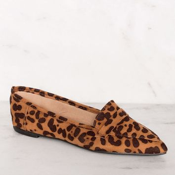 Amélie Pointed Loafers - Leopard