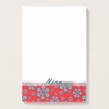 Snowflakes Pattern Post-it Notes