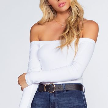Just Right Off The Shoulder Top - White